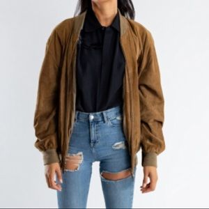 Vintage 100% suede leather 70's military jacket
